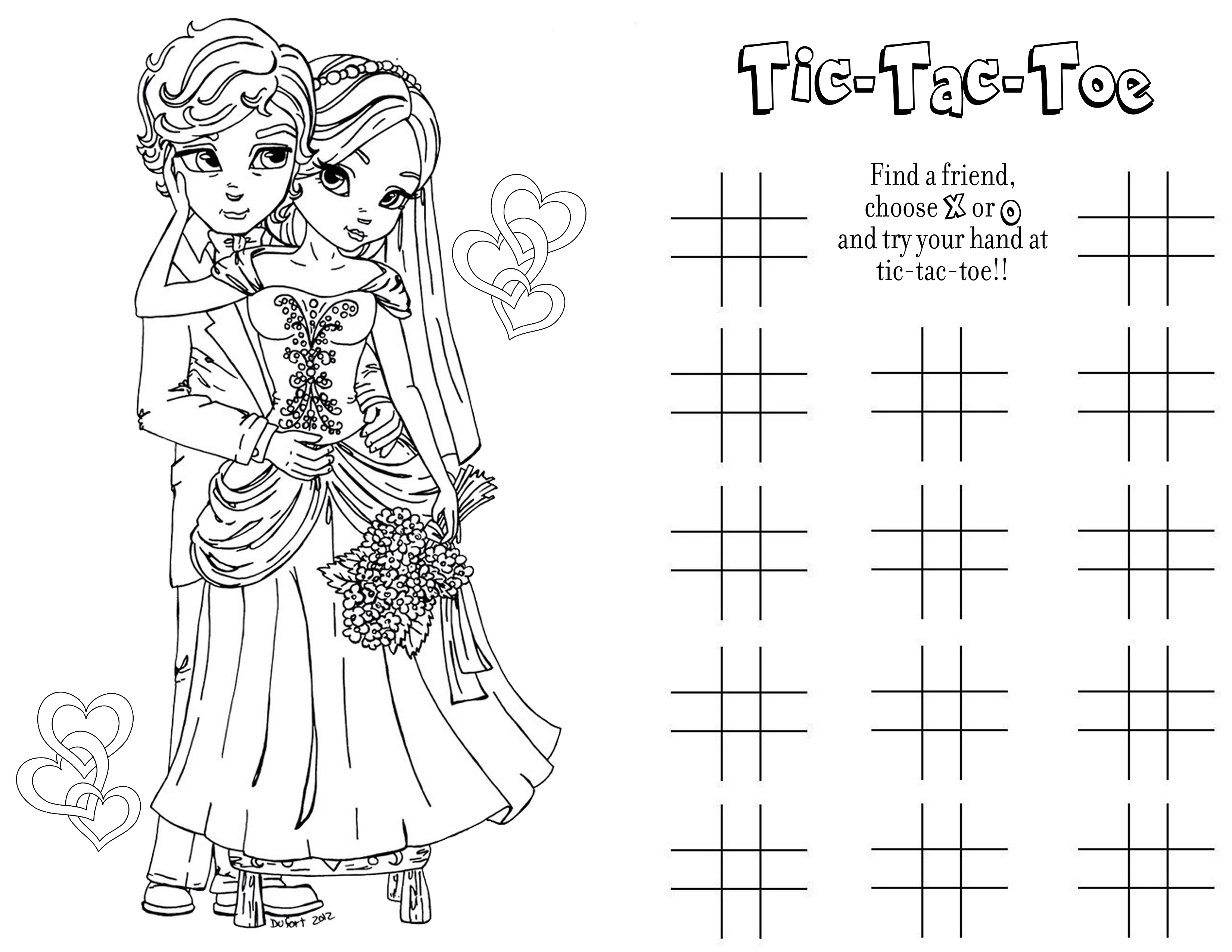 first page wedding coloring book free - Wedding Coloring Books