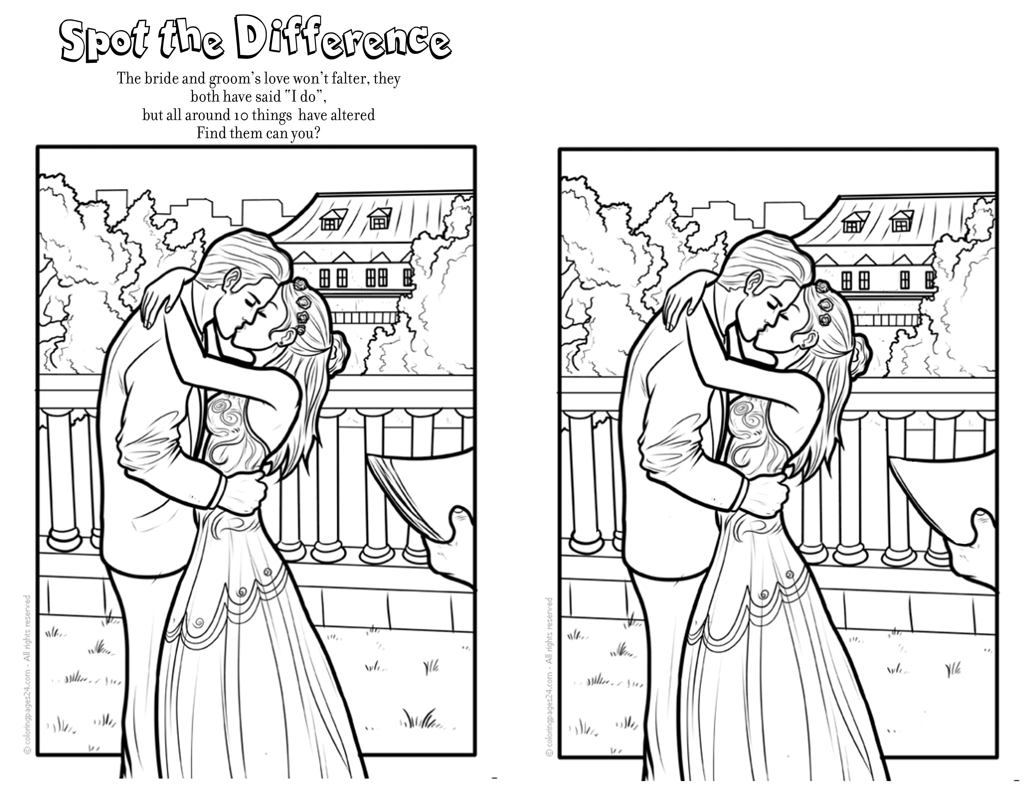 fourth page wedding coloring book free - Wedding Coloring Books
