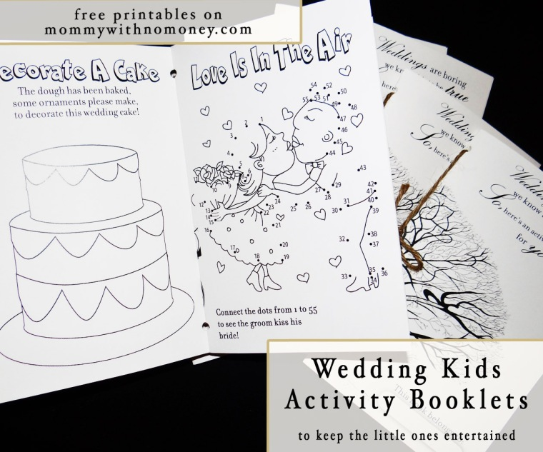 wedding kids activity books pinterest image - Kids Activity Book Printable