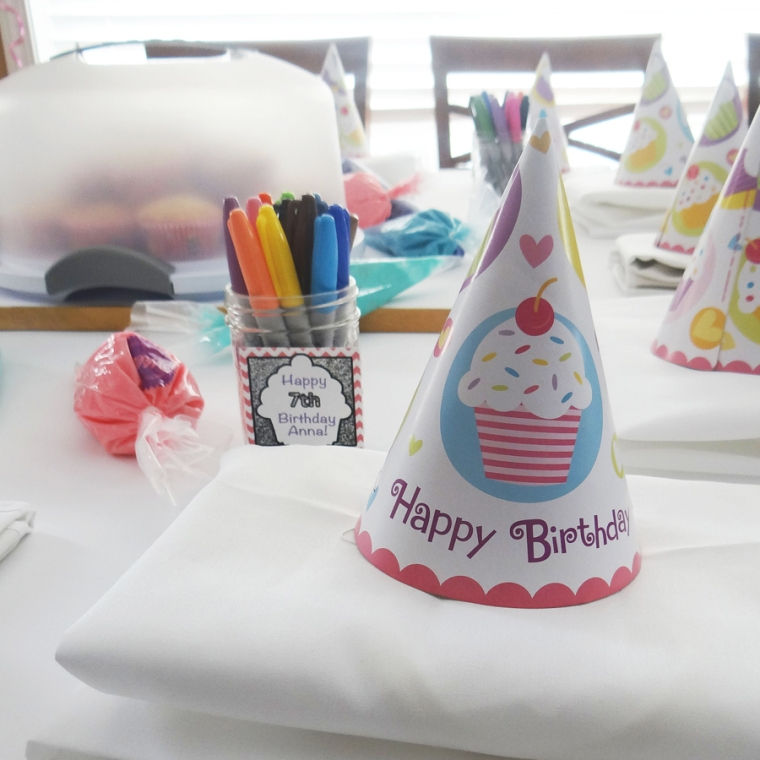 Apron and Birthday Hat Cupcake Decoration