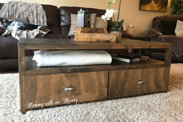 Pottery Barn Inspired Coffee Table on Mommy with no Money