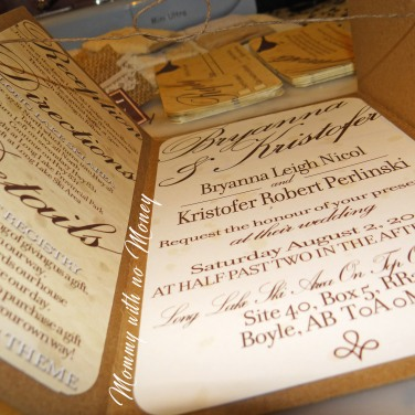Rustic DIY Wedding Invitations