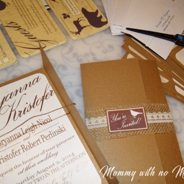 Rustic Wedding Invitations DIY