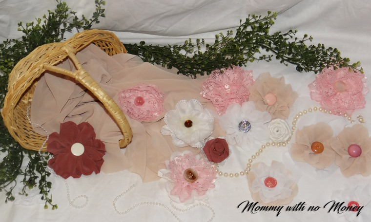 DIY Fabric Flowers on Mommywithnomoney.jpg