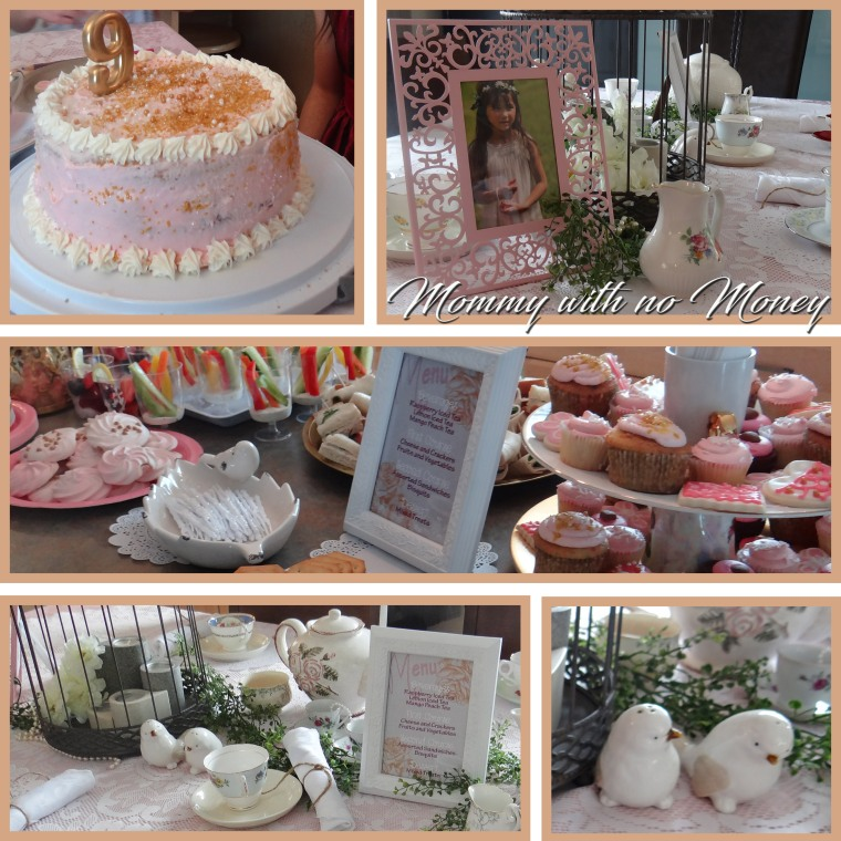 Tea Party Birthday Decor Collage on Mommy with no Money.jpg