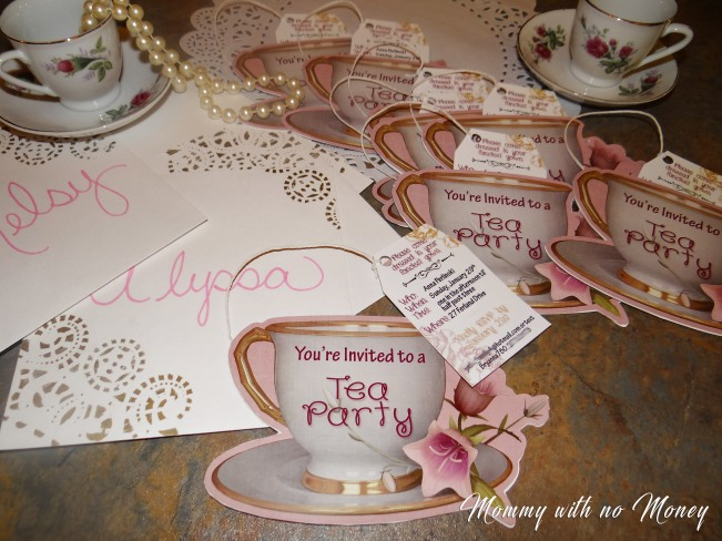 Tea Party Invitations on Mommywithnomoney